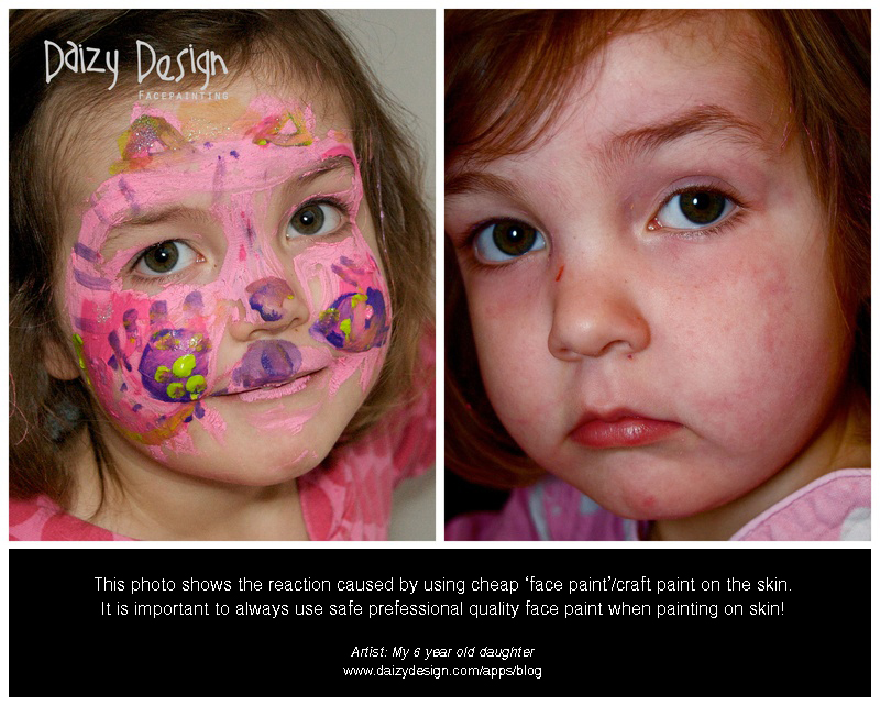 Safety info amanda 39 s elaborate eyes face body painting for Craft paint safe for babies