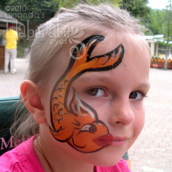 Shark amanda 39 s elaborate eyes face body painting for Easy fish painting
