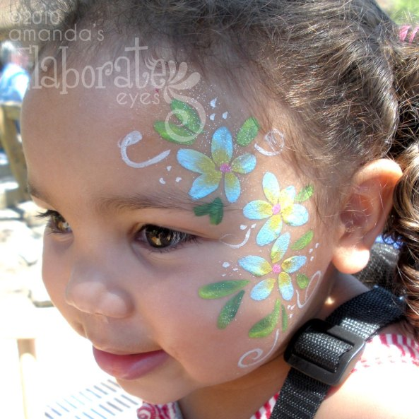 Girl amanda 39 s elaborate eyes face body painting for Pretty designs to paint