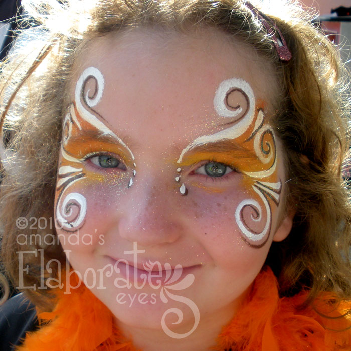 Orange Flourish Eyes