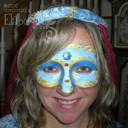 Blue Jeweled Mask