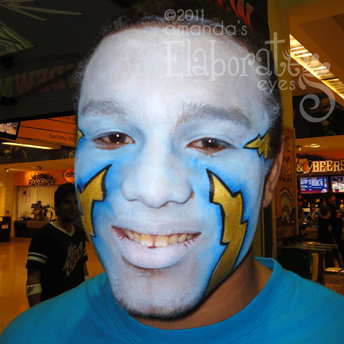 Electric Face Paint