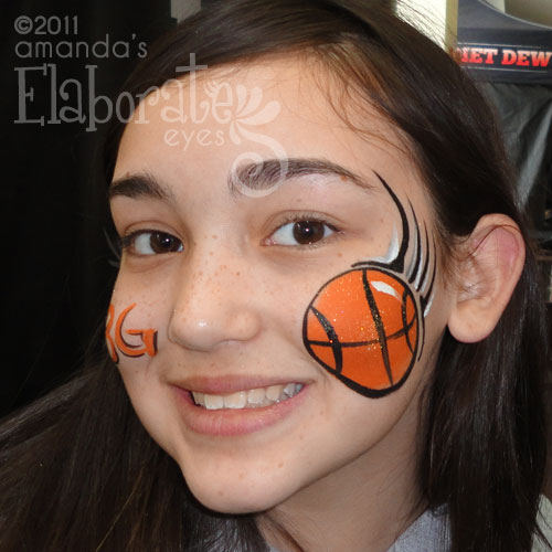 Sports Theme Face Painting Designs | Amanda's Elaborate Eyes Face ...