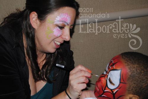 Amanda Painting Spiderman