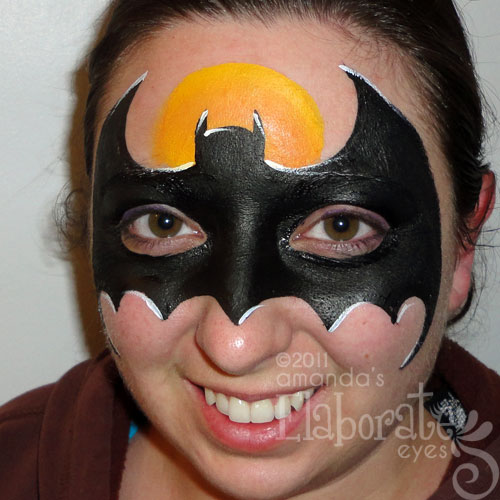 batman amanda 39 s elaborate eyes face body painting. Black Bedroom Furniture Sets. Home Design Ideas