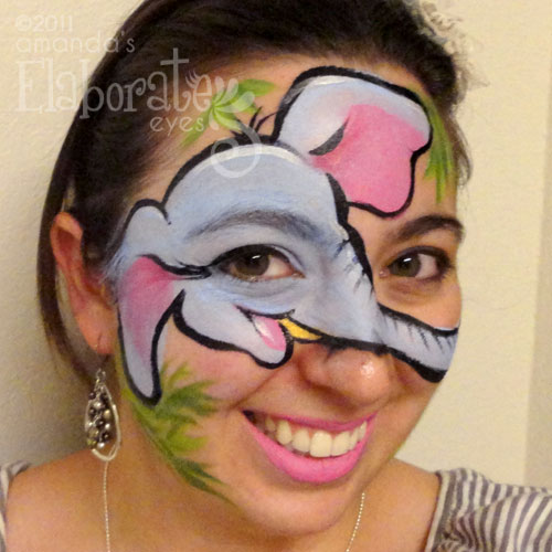 Elephant Face Painting http://elaborateeyes.com/tag/shark/