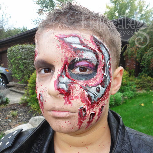 Terminator face paint | Amanda's Elaborate Eyes Face ...