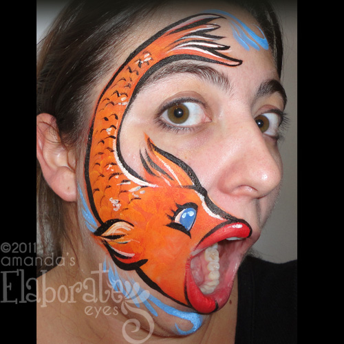 Chinese New Year Designs Elaborate Eyes Face Painting