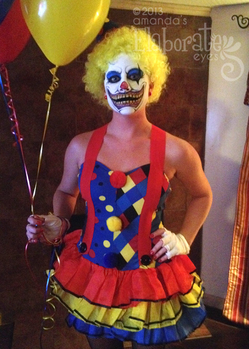 Creepy Clown in costume