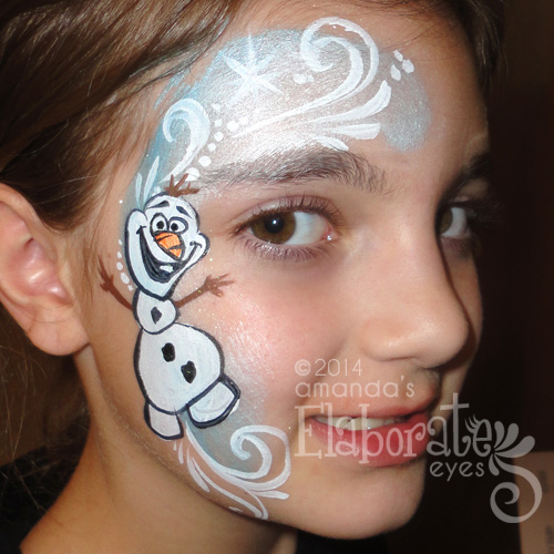 Fairy princess face painting amanda 39 s elaborate eyes for Frozen face paint