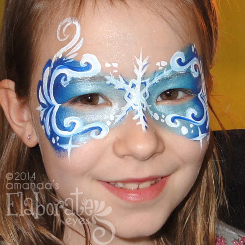 Frozen fascination amanda 39 s elaborate eyes face body for Frozen face paint