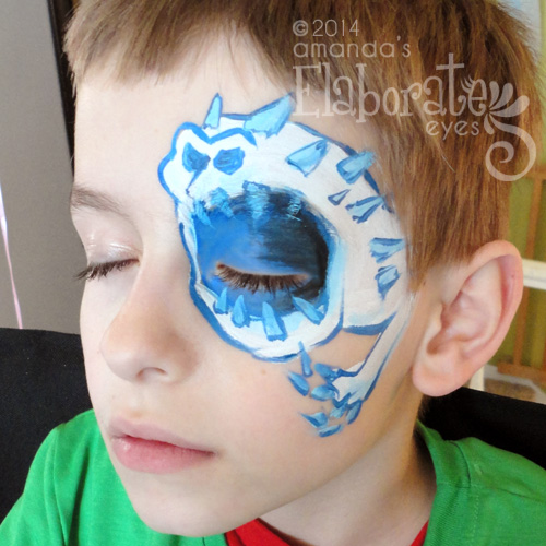 Boy face painting designs amanda 39 s elaborate eyes face for Frozen face paint