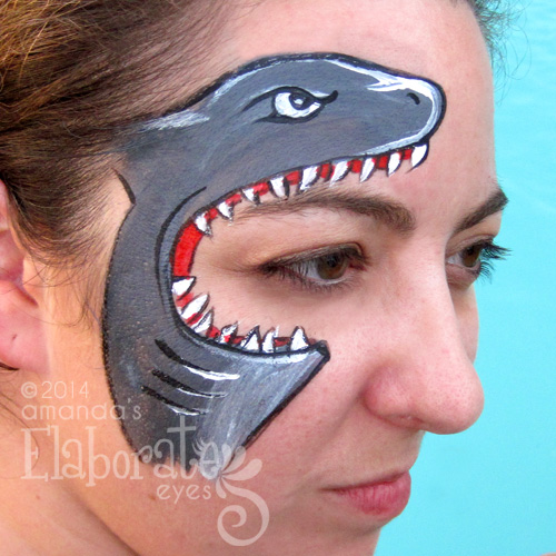 Hungry Shark  Face Paint