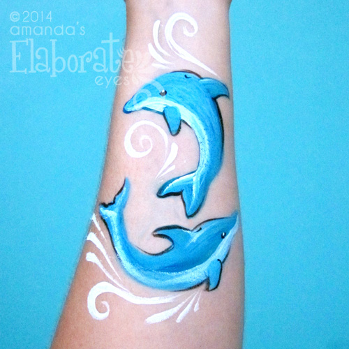 Dolphins Face Paint
