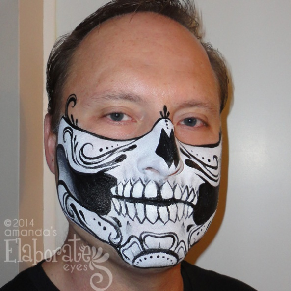 Male sugar skull mask
