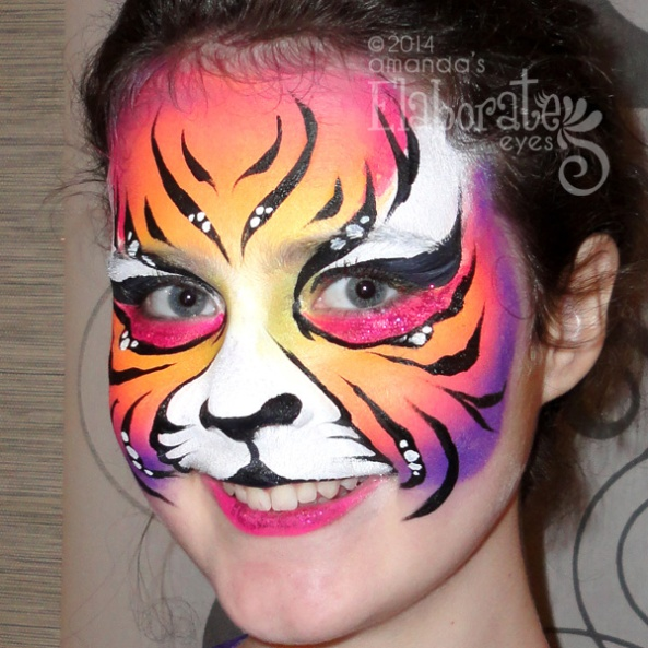 Animal face painting designs amandas elaborate eyes face body fantasy cat solutioingenieria Gallery