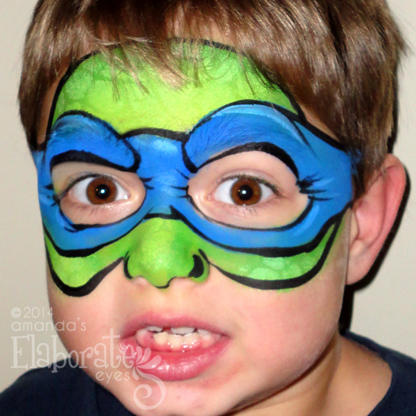 Boy Face Painting Designs | Amanda's Elaborate Eyes Face ...