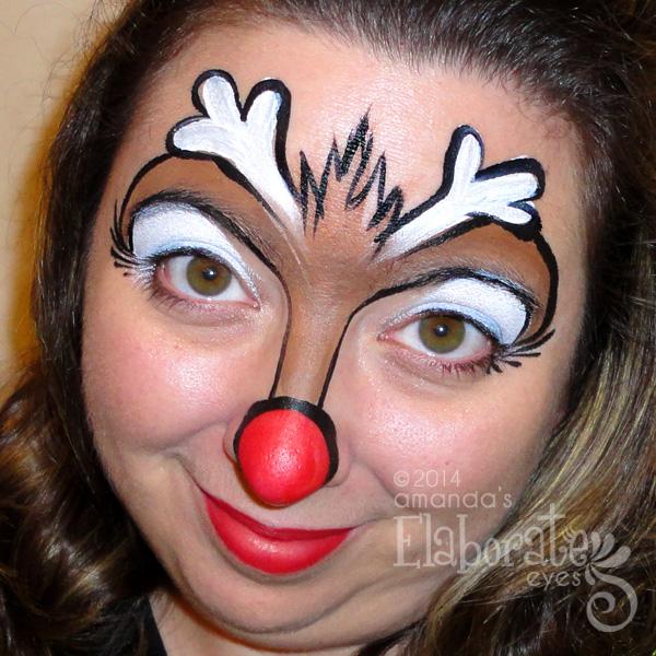 Ho Ho Holidays Elaborate Eyes Face Painting
