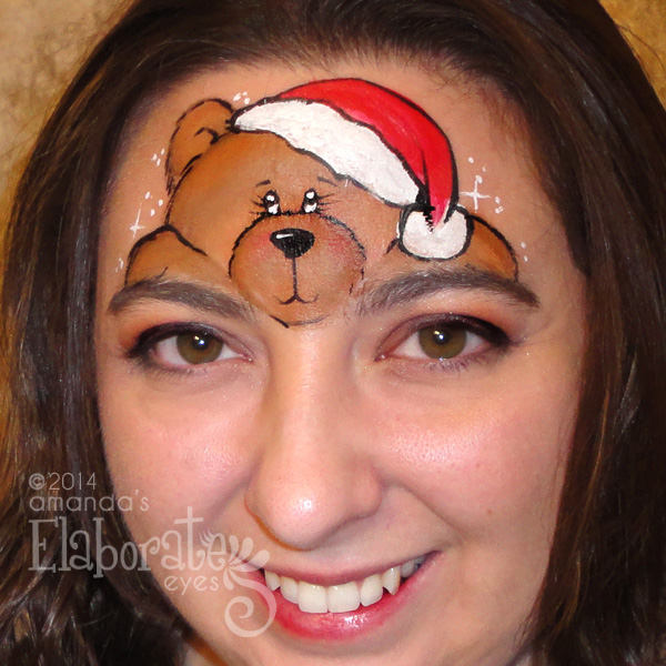 Christmas Face Painting Ideas.Holiday Face Painting Designs Elaborate Eyes Face Painting