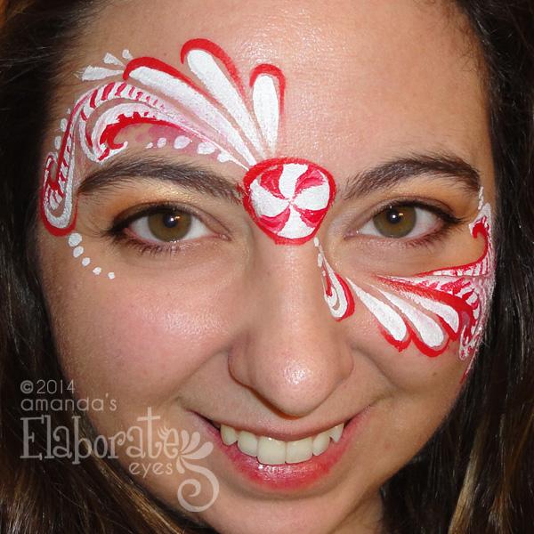 Holiday face painting designs amanda 39 s elaborate eyes for Latest face painting designs