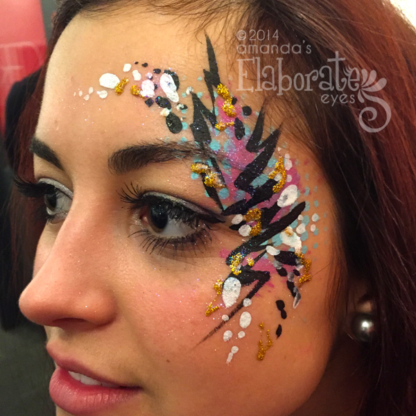 Flourish Face Paintings Elaborate Eyes Painting