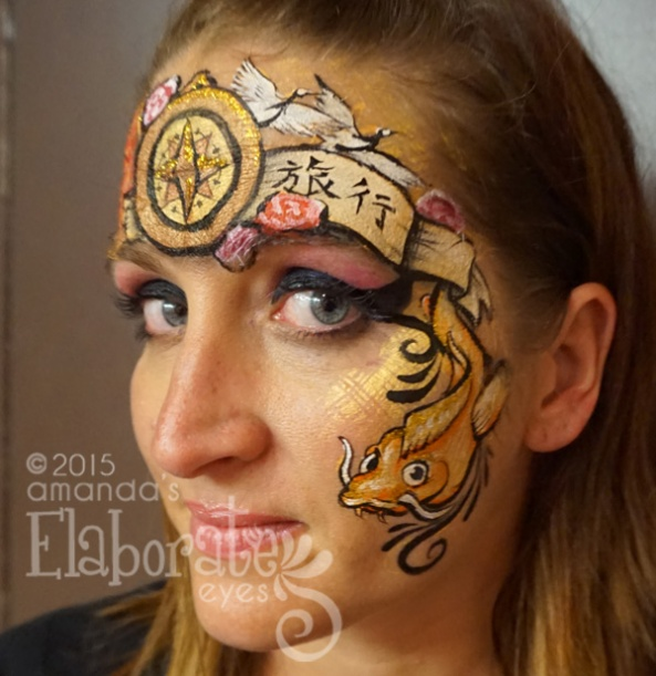 My contest entry for the face painting competition at FABAIC