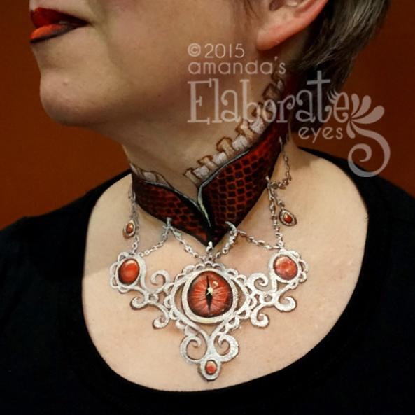 Gothic Dragons Eye Necklace