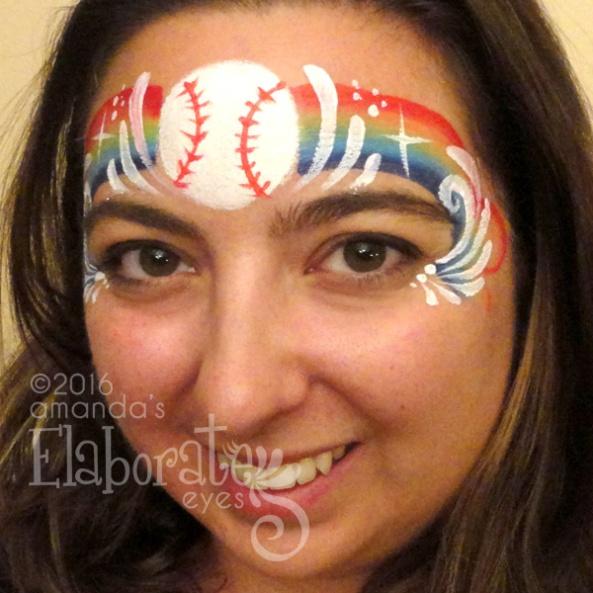 Boy face painting amandas elaborate eyes face body painting 3d baseball i heart baseball baseball crown solutioingenieria Image collections
